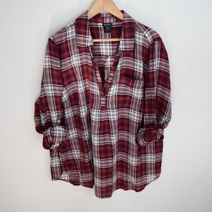 Torrid Plaid V Neck Fall Top